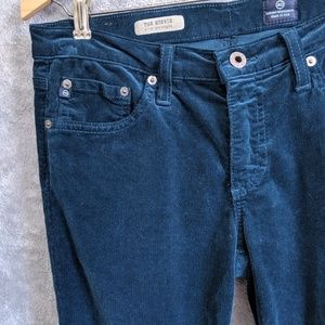 AG Adriano Goldschmied blue corduroy stevie jeans